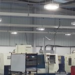 LED lighting for production halls