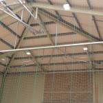 sports hall with LED lighting