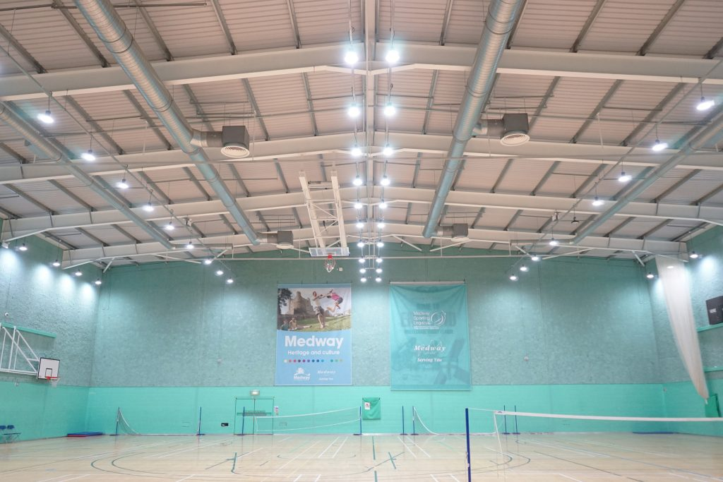 LED Lighting at Medway Park Hall