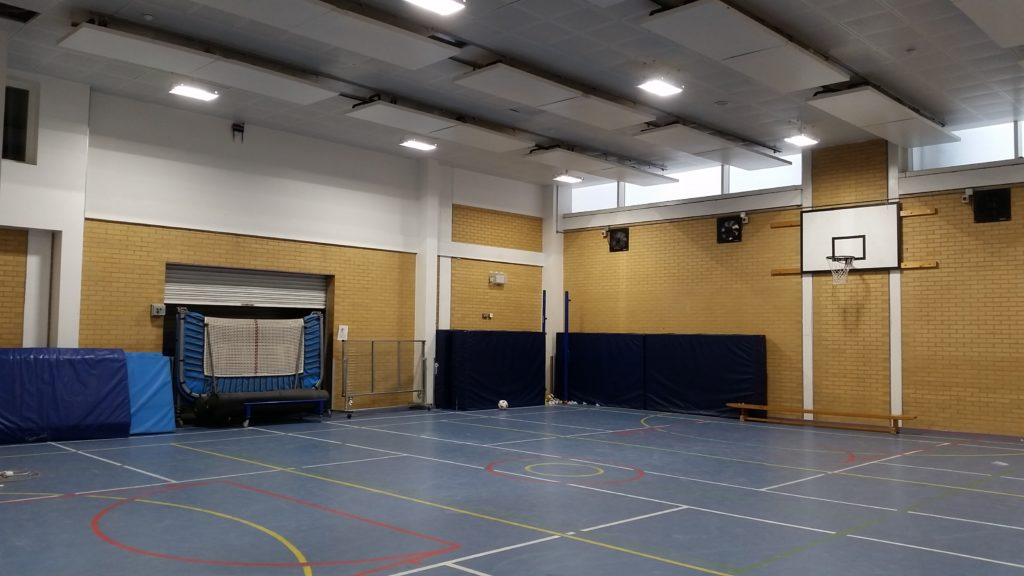 School Gym with new LED Lighting