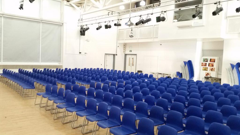 School assembly hall LED lighting