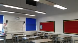 Classroom with new LED Lighting