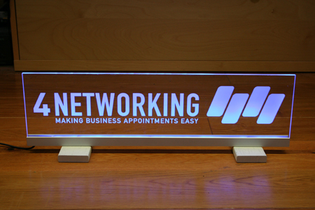 Illuminated Acrylic 4 Networking Sign