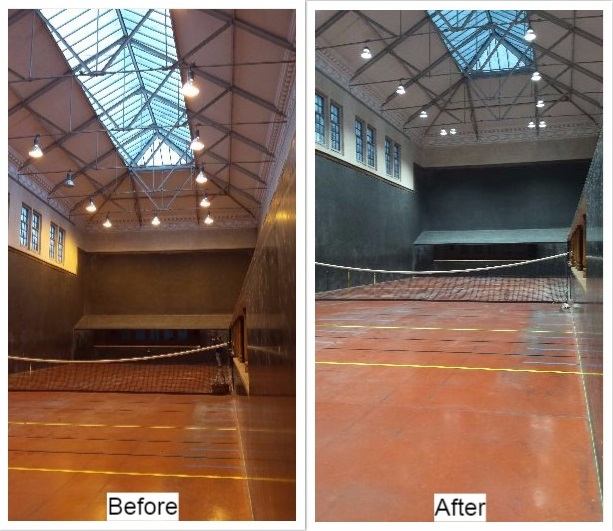Moreton Morrell Indoor Tennis Court LED Lighting
