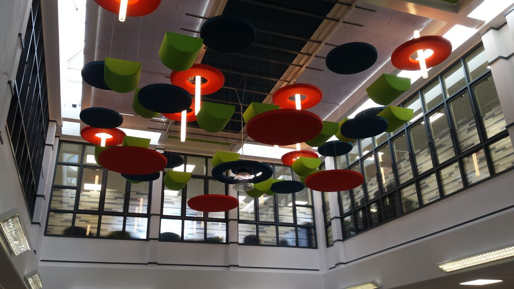 Basildon Atrium relax area feature lighting