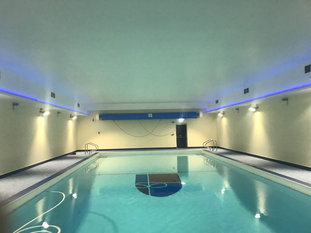 School Swimming Pool Lighting has a refreshing upgrade to LEDs