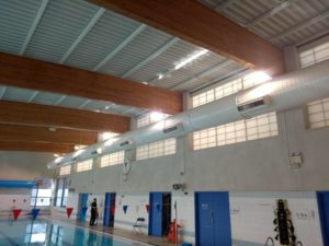 London swimming pool lighting after