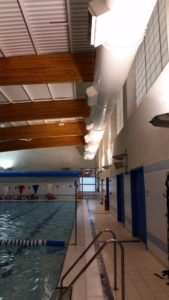 London Swimming Pool Lighting Before