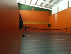 Old LED Lighting at Prested Tennis Courts