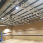 New Sports Hall Led Lighting at Tunbridge Wells Sports Centre in Kent