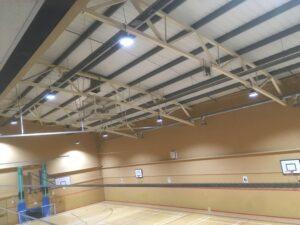 LED Lighting at Tunbridge Wells Sports Hall After