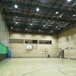 Tolworth sports hall led lighting after